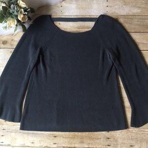 LOFT Ribbed Gray Sweater Size Large